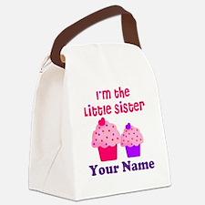 Big Sister Cupcake Custom Canvas Lunch Bag