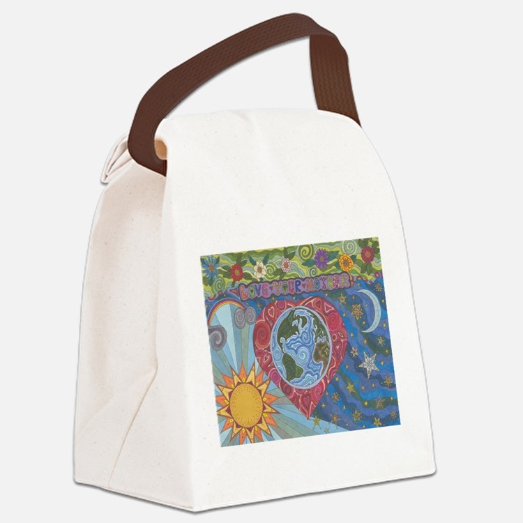 Love Your Mother Canvas Lunch Bag