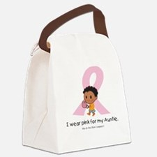 I wear pink for my Auntie Canvas Lunch Bag