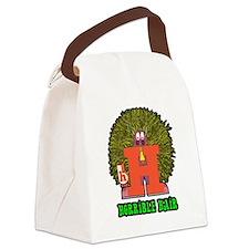 Horrible Hair Canvas Lunch Bag