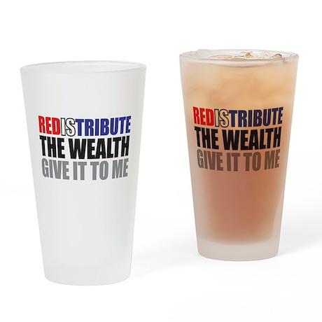 Redistribute_Wealth_Color.jpg Drinking Glass