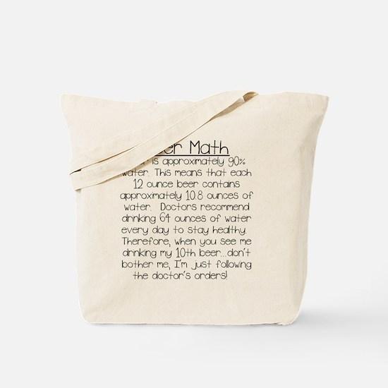 Beer Math Tote Bag