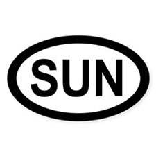 Oval Sun Decal