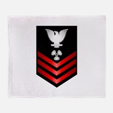 Navy Machinist's Mate First Class Throw Blanket