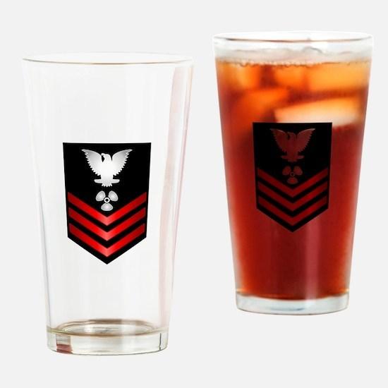 Navy Machinist's Mate First Class Drinking Glass