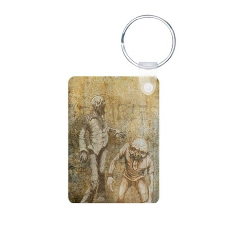 Zombies Aluminum Photo Keychain