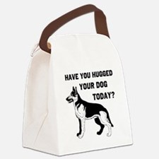 German Shepard have you hugge Canvas Lunch Bag