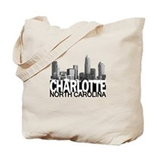 Charlotte Skyline Tote Bag