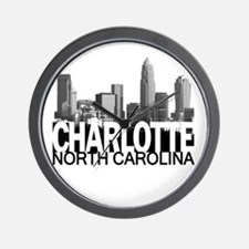 Charlotte Skyline Wall Clock