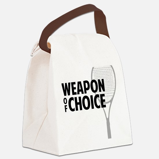 Tennis - Weapon Canvas Lunch Bag