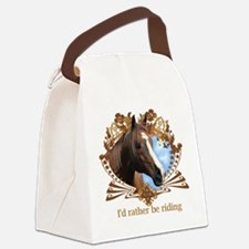 Cute Horseback riding Canvas Lunch Bag