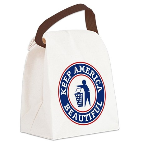 Keep America Beautiful Canvas Lunch Bag