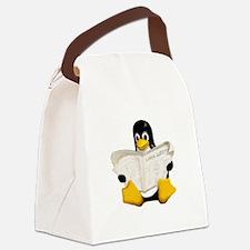 Tux - Linux Penguin Canvas Lunch Bag