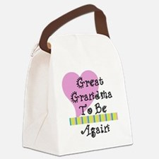 Great Grandma To Be Again Str Canvas Lunch Bag