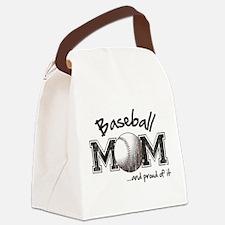 Funny Baseball mom Canvas Lunch Bag