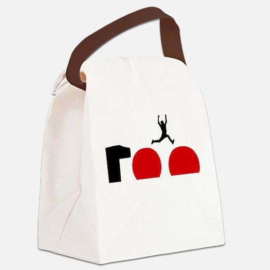 Big Red Balls Jump Canvas Lunch Bag