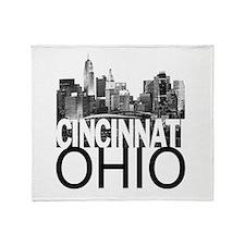 Cincinnati Skyline Throw Blanket
