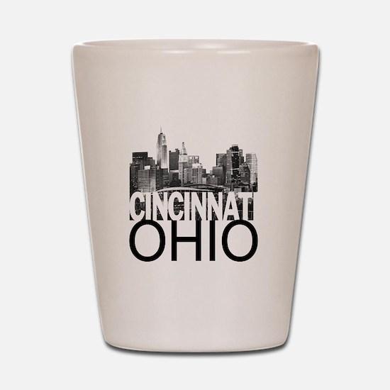 Cincinnati Skyline Shot Glass