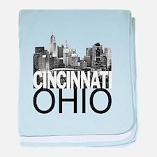 Cincinnati Skyline baby blanket
