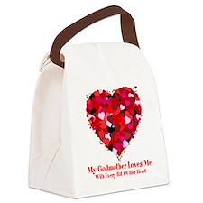 Godmother Loves Me Valentine Canvas Lunch Bag