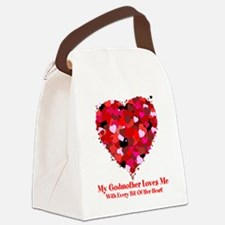 Godmother Loves Me Valentine Canvas Lunch Bag