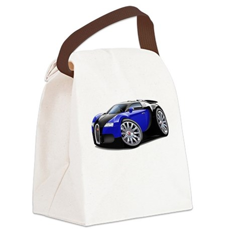 Veyron Black-Blue Car Canvas Lunch Bag