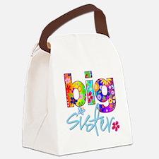 big sister t-shirt flower Canvas Lunch Bag