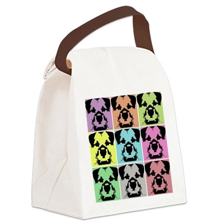 Border Terrier a la Warhol 4 Canvas Lunch Bag