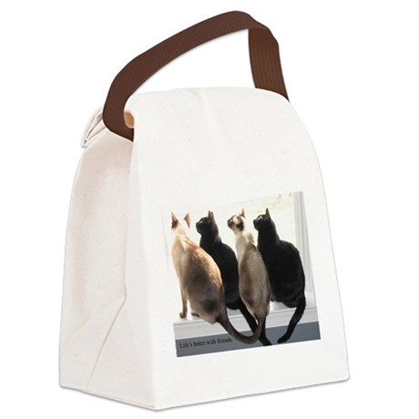 Bird Watching With Cat Friends Canvas Lunch Bag