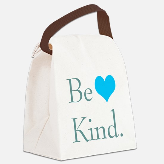 """""""Be Kind"""" with a heart. Canvas Lunch Bag"""