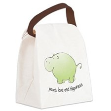 peace, love & hipponess Canvas Lunch Bag