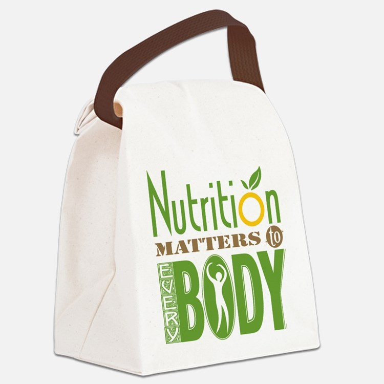 Canvas Lunch Bag - Nutrition Matters To Every