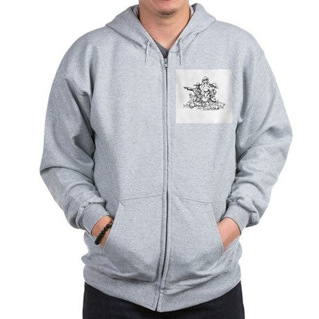Disc Golf Outlaw Style Zip Hoodie