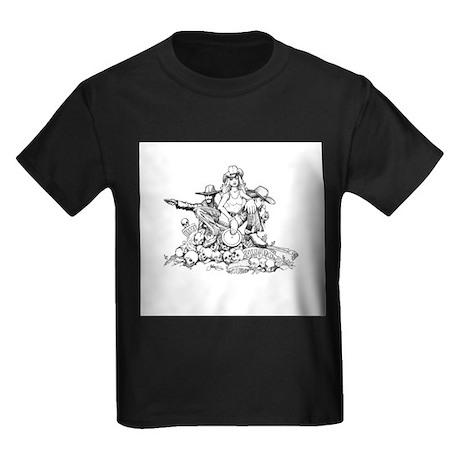 Disc Golf Outlaw Style Kids Dark T-Shirt