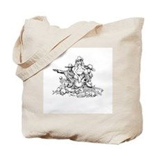 Disc Golf Outlaw Style Tote Bag