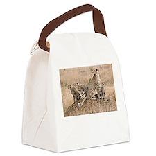 Cheetah Family Canvas Lunch Bag