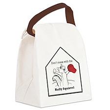 STL Rally Squirrel Canvas Lunch Bag
