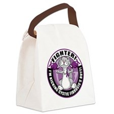 Cystic-Fibrosis Cat Fighter Canvas Lunch Bag