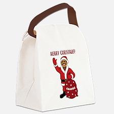 obama_santa_mc.png Canvas Lunch Bag