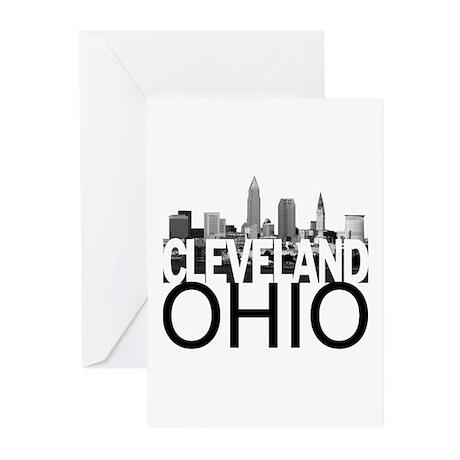 Cleveland Skyline Greeting Cards (Pk of 10)