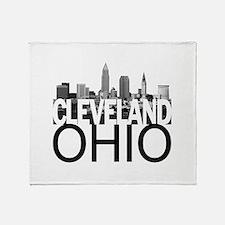 Cleveland Skyline Throw Blanket