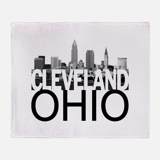 Cleveland Skyline Throw Blanket