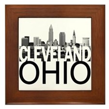 Cleveland Skyline Framed Tile
