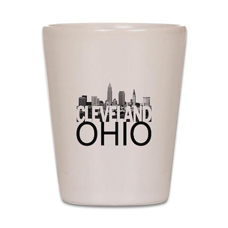 Cleveland Skyline Shot Glass
