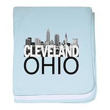 Cleveland Skyline baby blanket