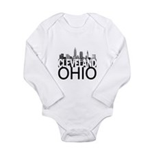 Cleveland Skyline Long Sleeve Infant Bodysuit