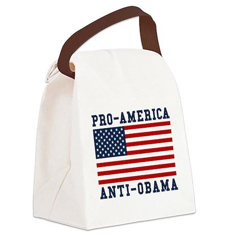Pro-America Anti-Obama Canvas Lunch Bag