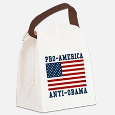 Pro-America Anti-Obama Canvas Lunch Bag