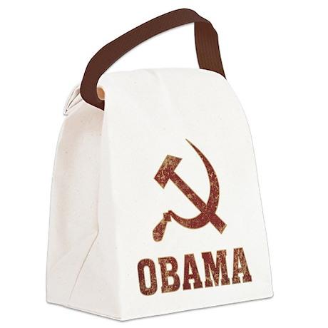Socialist Obama Canvas Lunch Bag