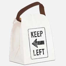 Keep Left Canvas Lunch Bag